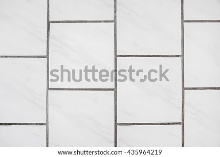 Tiles floor background, texture, material - white with joint