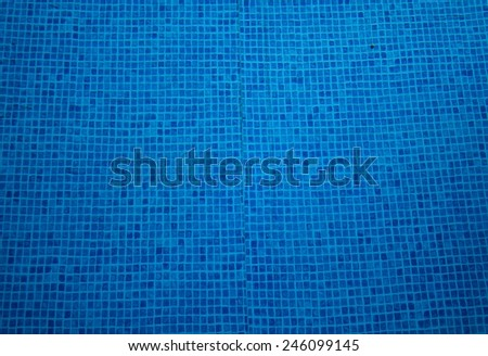 tiles in a pool - stock photo