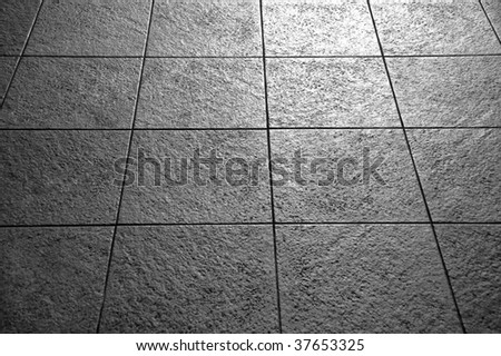 Tiles in black and white - stock photo