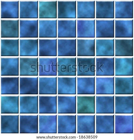 tiles in blue color