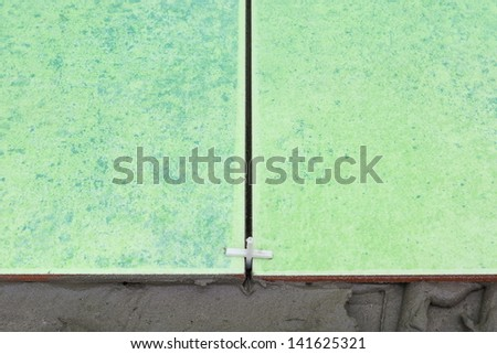 tiling renovation - stock photo
