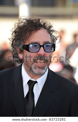 "Tim Burton at the premiere of ""Beautiful"" in competition at the 63rd Festival de Cannes. May 17, 2010  Cannes, France Picture: Paul Smith / Featureflash"