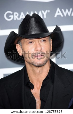 Tim McGraw at the 55th Annual GRAMMY Awards, Staples Center, Los Angeles, CA 02-10-13