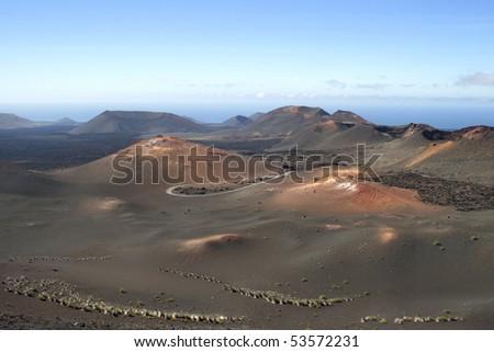 Timanfaya National Park, Lanzarote, Canary Islands - stock photo