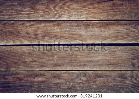 timber brown wood plank texture, timber wall industrial background, image used vintage retro filter - stock photo