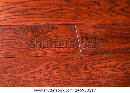 Timber floor background. The structure of wood covered with a protective varnish. Sample of a wooden floor covering  - stock photo