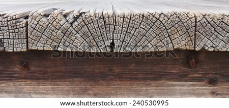 timber flooring horizontal section detail - stock photo
