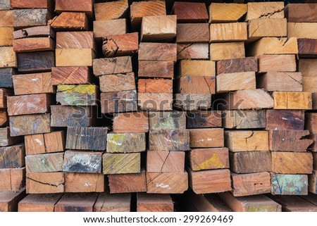 Timber for construction work - stock photo