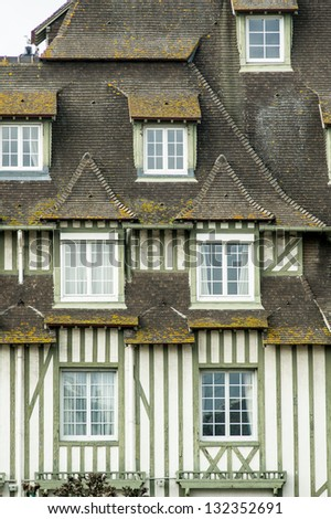 Timber frame building in Deauville, France