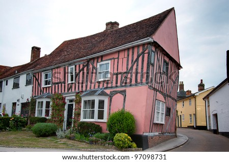 Timber framed house, Lavenham, Suffolk, England