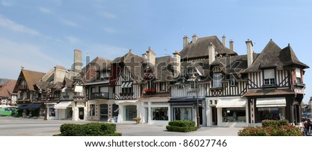 Timber framing houses in Deauville, France
