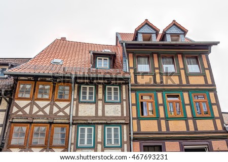 Timber framing houses Wernigerode old town, Germany