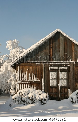 timber house - stock photo