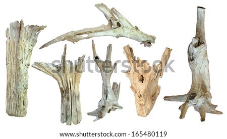 timber isolated on a white background - stock photo