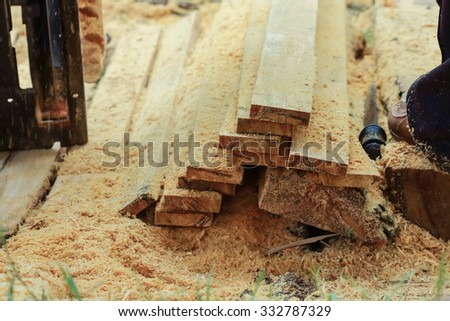 timber logs storage for construction or industrial