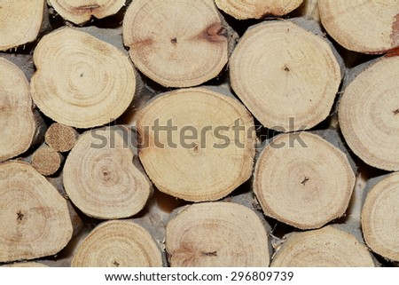 Timber Stack - stock photo