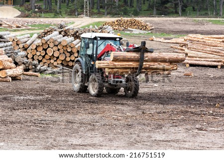Timber Transport - stock photo