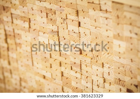timber wood furniture new  material - stock photo
