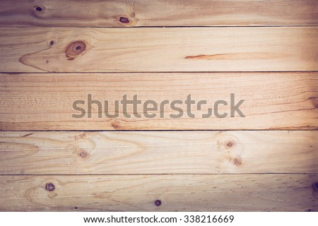 timber wood panel plank texture background, image used retro vintage filter - stock photo