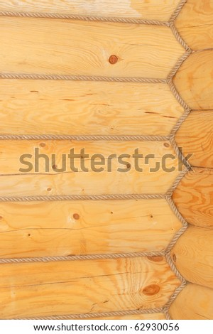 Timbered wall with decorative