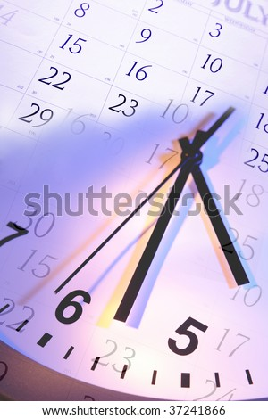 Time and calendar - stock photo