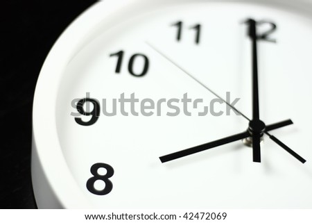 Time and clock - stock photo