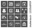 Time and Money Icons Set: handshake deal staff calendar. See also vector version - stock vector