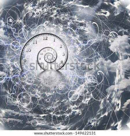 Time and Quantum Physics - stock photo