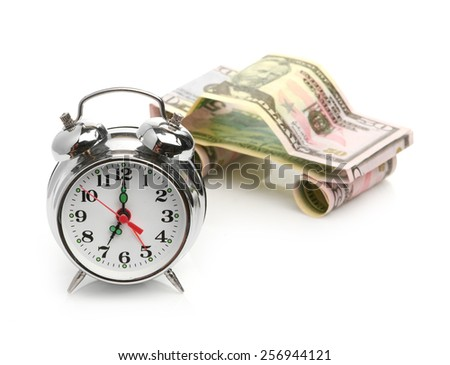 time buy car concept (car made from dollar} - stock photo