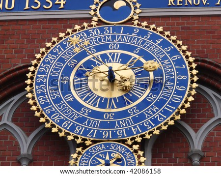 Time clock - stock photo