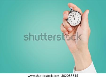 Time, clocking, clock. - stock photo