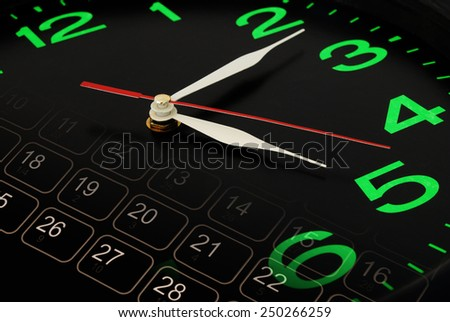 Time concept, clock and calendar collage  - stock photo