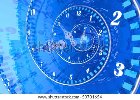 Time concept. Hi-res digitally generated image. - stock photo