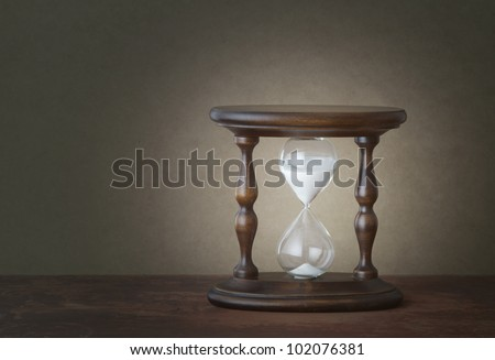 time concept: vintage hourglass