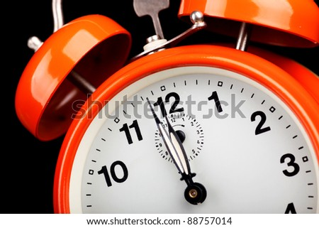 time concept with clock