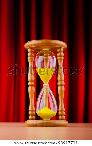 Time concept with hourglass
