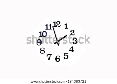 time concept with watch or clock on white wall  - stock photo