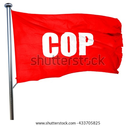 time, 3D rendering, a red waving flag - stock photo