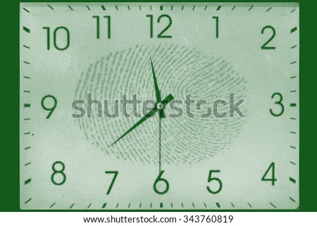 Time Fingerprint scanning technology