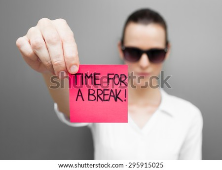 Time for a break? - stock photo