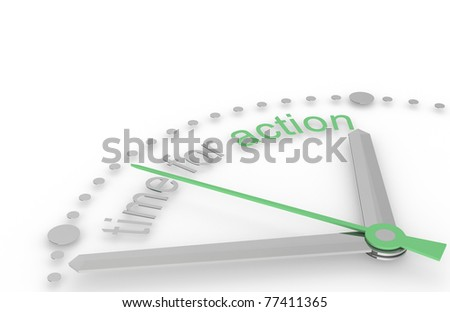 Time for Action, Eco Edition - stock photo