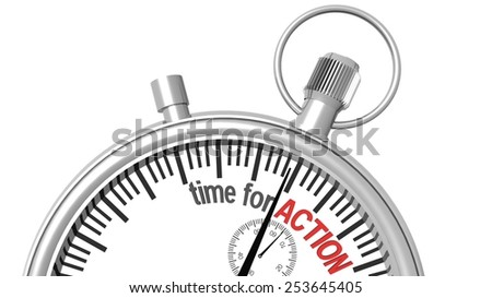 time for action - pocket watch - stock photo
