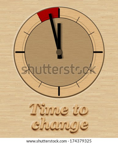 Time for change as concept - stock photo