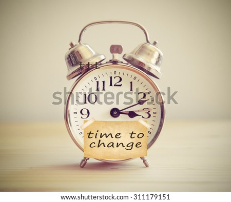 time for change clock - stock photo