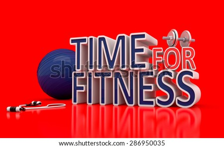 Time For Fitness Concept - stock photo
