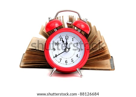 time for historic books - stock photo