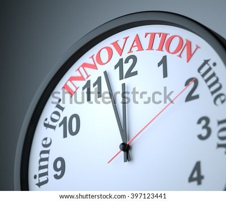 time for Innovation , 3d render - stock photo