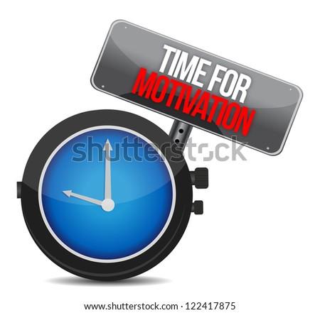 Time for Motivation concept illustration design over white - stock photo