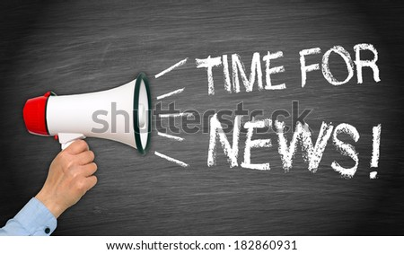 Time for News ! - stock photo