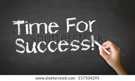 Time for Success Chalk Illustration - stock photo